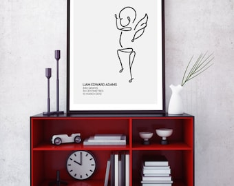 Custom Angel Baby Print - Baby3
