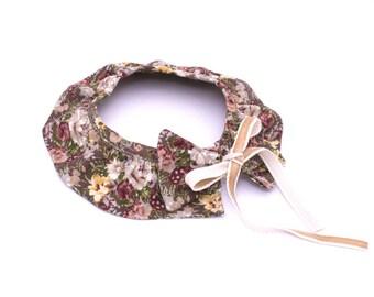 Shirt collar floral girl