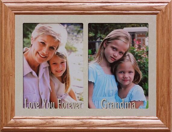 5x7 JUMBO™ Double Love You Forever Grandma Photo Frame ~ Holds 2 ...