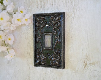 Cast Iron Switch Plate Cover Ornate Wall Decor