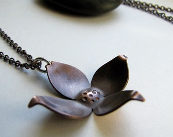 Dogwood copper blossom pendant - made to order