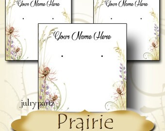 PRAIRIE•Earring Cards•Jewelry Card•Earring Display•Earring Holder•Custom Earring Card•Boutique Card