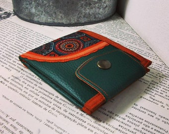 Curve, Mandala, Limited Edition, Handmade Personalized Wallet, Vegan Friendly, Vegan Leather Wallet, Unique Wallet, UNUSUAL