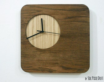 Wooden Simply Square- Wood Wall Clock