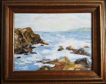 California Inlet Seascape Oil on Canvas