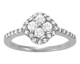 An Elegant Brand New 14KT White Gold Diamond Engagement Wedding Band 0.70CT G-SI