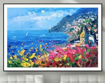Positano Art, Positano Poster, Positano Canvas, Positano Prints, Positano Italy, Positano Wall Art, Beach Prints, Italy Wall Art Prints