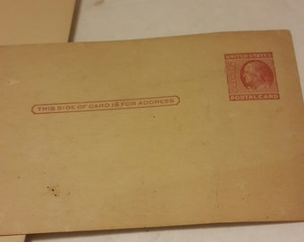 Vtg USPS Blank Post Cards Uncirculated Two Cent(20) Five Cent(18) Ten Cent(10)
