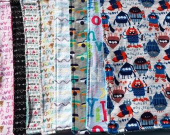 4 Flannel Burp Cloths