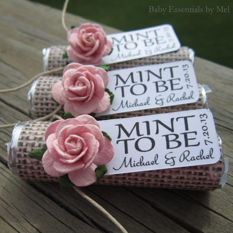 Wedding Favors Set Of 100 Mint Rolls Mint To