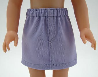 """14"""" Doll Clothes - American Doll - Fits Like Wellie Wisher - 14 Inch Doll Clothes - Light Lavender Twill Skirt - Doll - A Doll Boutique"""