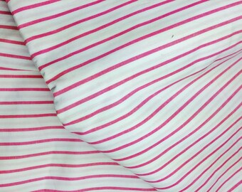 COTTON LIGHTWEIGHT STRIPED WHITE AND RED 40/150 CM