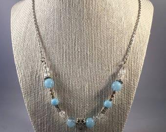 Beautiful Teardrop Necklace, Teardrop Necklace, Chain Necklace, Bead Necklace
