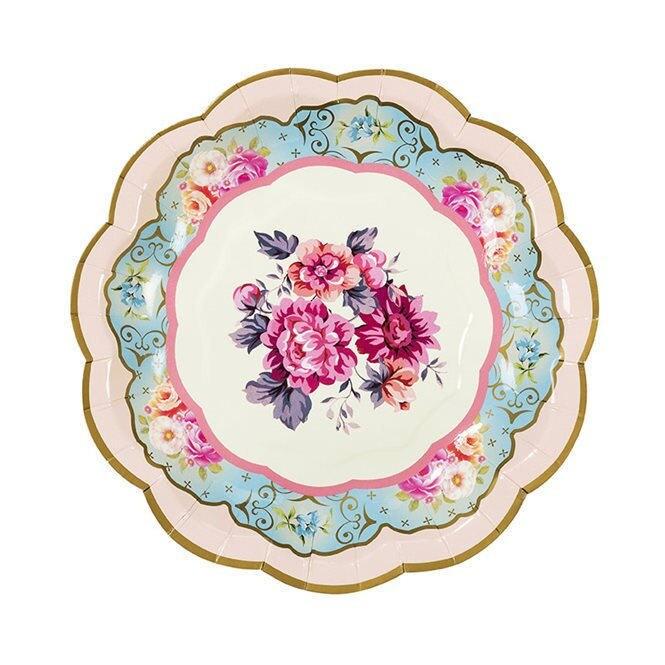 $6.63  sc 1 st  Etsy Studio & Vintage Look Paper Plates Floral Shabby Chic party Elegant ...