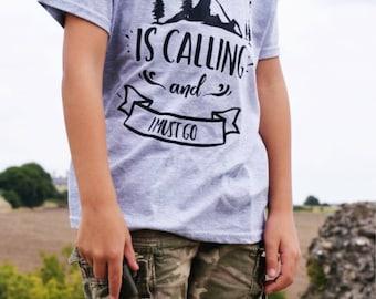 Boys adventure tshirt, adventure tshirt, adventure top, summer camp shirt, boys adventure shirt, adventure tshirt, camping tshirt
