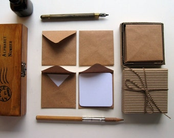 Kraft Paper Mini Stationery Set
