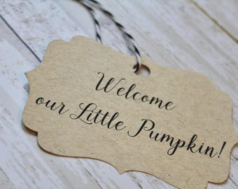 Baby Shower, Little Pumpkin, New Baby, Baby Shower Gift Tags, Welcome New Baby, Favor Tags, New Baby