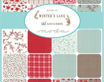 Return to Winter's Lane Bundle - Kate and Birdie Paper Co - Moda Fabrics - Christmas Fabric