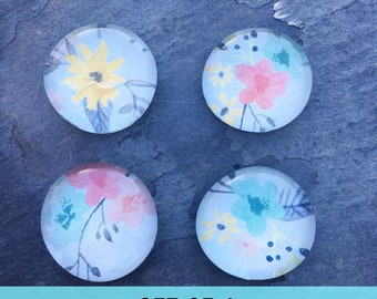 Wildflower Magnets - Bright Flower Magnets - Bright Floral Magnets - Wildflower Office Supplies