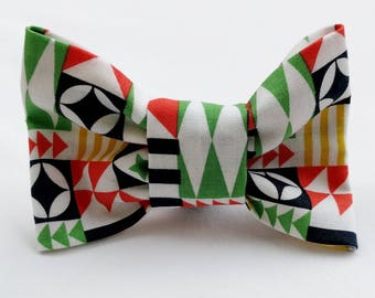 Banners and Flags- Dog Collar Bow Tie- Pet Accessory- Pet Supplies-Red-Blue-Green-Yellow-White-Collar Attachment