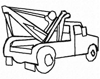Tow Truck Embroidery Design - Instant Download
