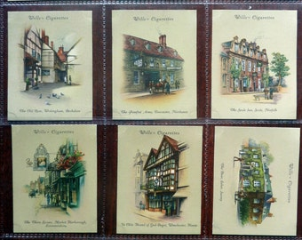 British Cigarette Card Set (40 Cards) -  Old Inns. Issued 1939 by Wills Cigarettes. Picturesque Old British Inns. Superb Cards