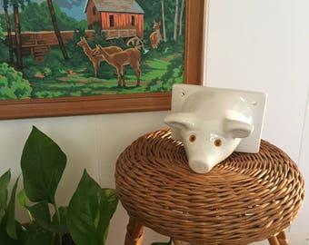 Ceramic pig head