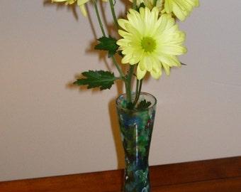 Vase Glass Vase Hand Painted Glass Vase Glass Flower Vase Decorative Vase