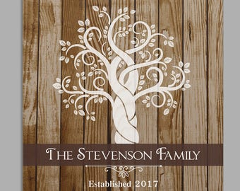 Personalized Family Tree Square 16x16 Canvas Print, wall decor, personalized, housewarming gift, home decor, wedding gift -gfy91093654F