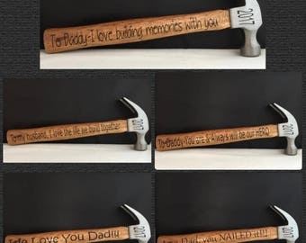 Wooden Hammer Custom Hammer Personalized Hammer Personalized Tool Personalized Gift Family Keepsake Gift for Father Best Dad Gift from kids