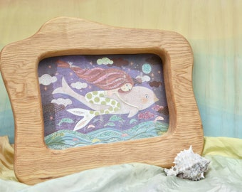 "5 x 7"" wood frame / Handmade wooden Frame / Picture Frame / Wall wood frame"