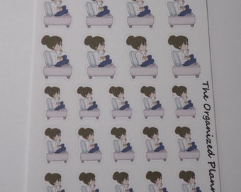 TV Time Stickers / Movie Stickers / Netflix and Chill Stickers / Great for your Erin Condren Life Planner