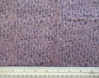 Flannel Brown Spruce Tree Design - 1/2 Yard  F-1/2-2