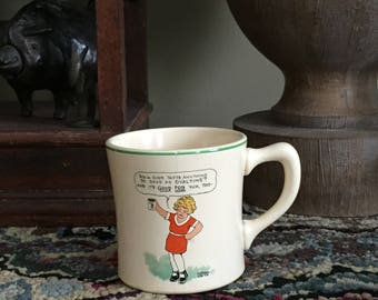 Charming-Little Orphan Annie Ovaltine mug-Collectible-1930s