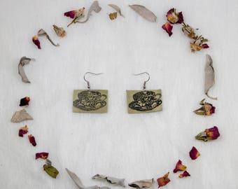 Teacup Earrings // Teacups // Teacup Jewelry // Tea Time // Tea Jewelry // Leather Earrings