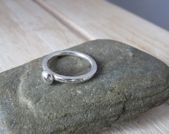 Silver ring, silver pebble ring, sterling silver ring, ring, pebble ring
