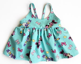 Minnie & Daisy top or dress- kids Disney outfit