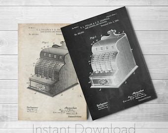 Cash Register Printables, Antique Store Counter, Ice Cream Parlor, Cash Register, PP0531