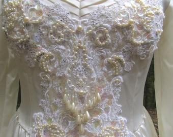 SALE - SALE -Beautiful Vintage Custom Made Wedding Gown by Christine Blumish