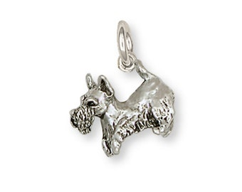 Scottie Scottish Terrier Charm Handmade Sterling Silver Dog Jewelry SY9-C