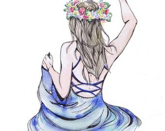 Floral Rocker - A4 Print