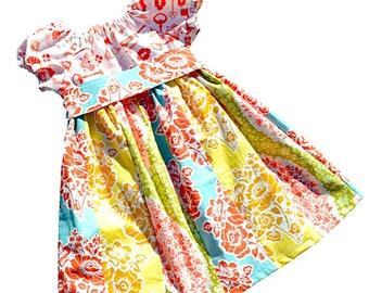"Girls Dress Pattern, Peasant Dress Pattern, Sewing Patterns, PDF Sewing Pattern, Easy Sewing PDF Patterns, Girl, Baby Pattern ""Hailey Dress"""