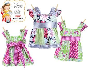 Jodie Girls Dresses, Toddler Dress pdf Pattern, Girls Sewing Pattern pdf. Girls Summer Dress Pattern. Girls Top Pattern, pdf Sewing Pattern.