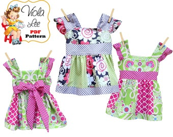 Jodie Girls Dress Patterns, Toddler Dress Patterns, Girls Sewing Patterns, Girls pdf Sewing Pattern, Summer Dress Pattern, Dress Patterns
