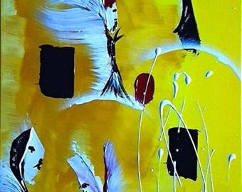Check out of angels modern abstract painting