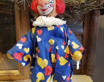 Clown Antique Toy French circus clown