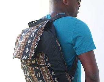 African print BackPack Kente Bag African BackPack College Rucksack Festival Bag African Bag - African Rucksack Drawstring BackPack
