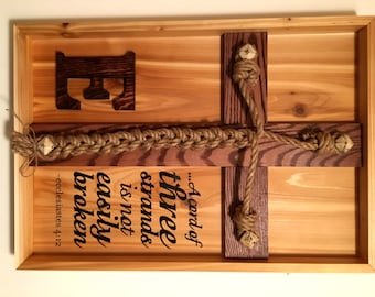 Wedding Unity Ceremony - Braid (Natural Western Cedar) w/Ecclesiastes 4:12 scripture