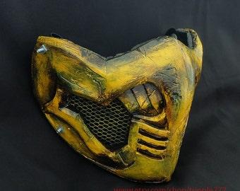 Half cover MORTAL KOMBAT X mask, Scorpion X mask, Airsoft mask, Halloween costume & Cosplay mask, Halloween mask, Steampunk mask, MA225 et