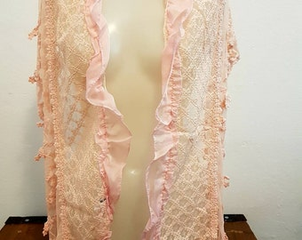 Lace Shawl and tulle ruffles